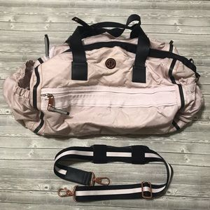 Lululemon Light pink rose gold duffel gym bag